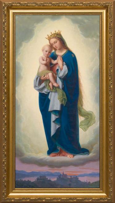 Madonna and Child by Franz Ittenbach - Standard Gold Framed Art