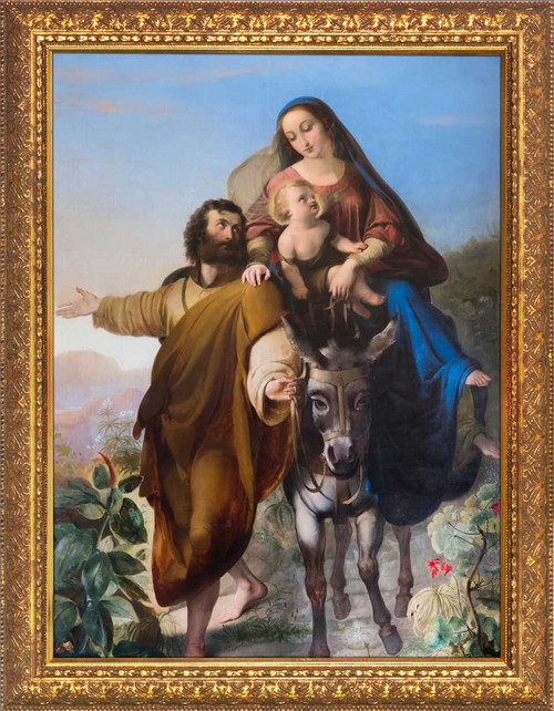 Flight into Egypt - Gold Framed Art