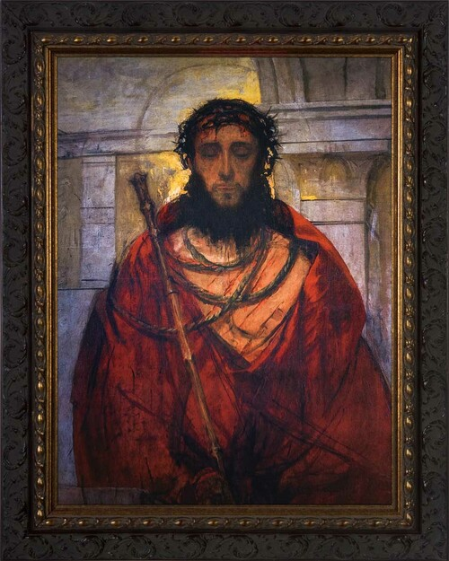 Ecce Homo by St. Albert Chmielowski - Ornate Dark Framed Art
