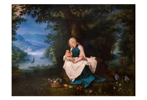 Rest on the Flight into Egypt by Jan Brueghel Print