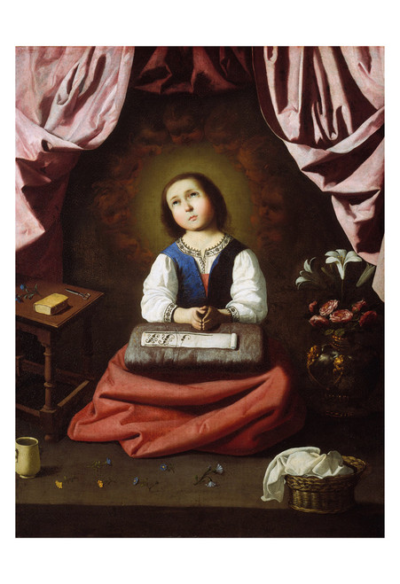 The Young Virgin by Francisco de Zurbarán Print
