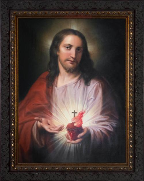 Austrian Sacred Heart - Ornate Dark Framed Art