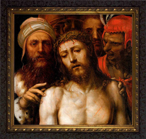 Christ Presented to the People by Il Sodoma - Ornate Dark Framed Art