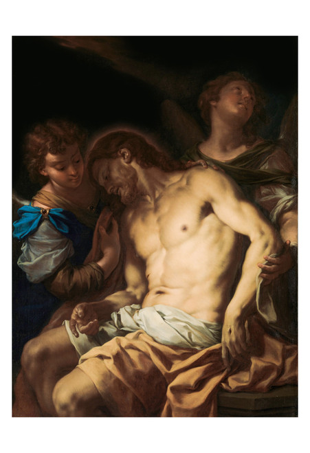Dead Christ Supported by Angels by Francesco Trevisani Print