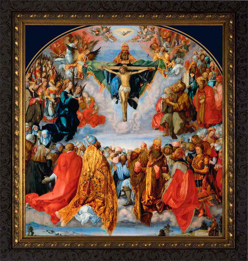 Adoration of the Trinity by Albrecht Durer - Ornate Dark Framed Art