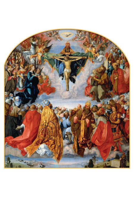 Adoration of the Trinity by Albrecht Durer Print