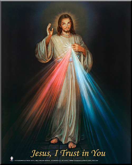 CLEARANCE Divine Mercy Shadow Mounted Poster