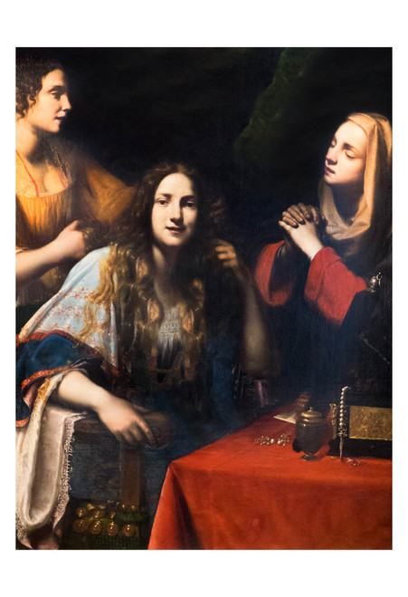 Martha Reproaching Mary Magdalene by Francesco Lupicini Print