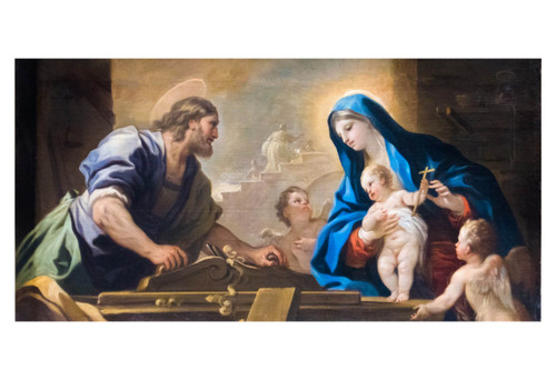 Holy Family with Joseph at the Workbench by Luca Giordano Print