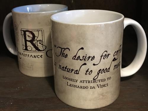 Leonardo da Vinci Desire Quote Mug