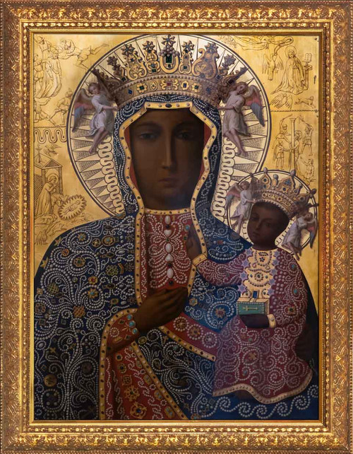 Black Madonna of Czestochowa - Gold Framed Art