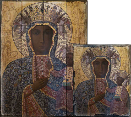 Black Madonna of Czestochowa Rustic Wood Plaque