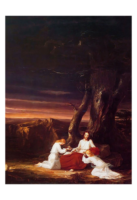 Angels Ministering to Christ in the Wilderness by Thomas Cole Print