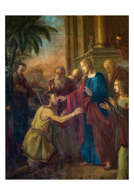 Christ Healing the Blind Man Print