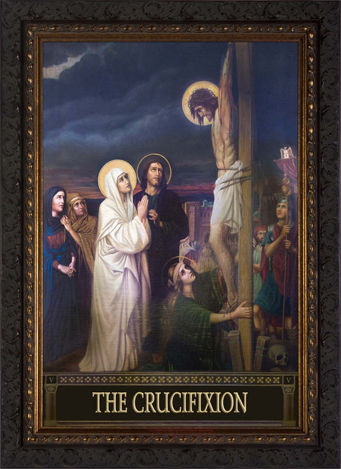 The Seven Sorrows of Mary (Set of 7) - Ornate Dark Frames
