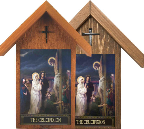 The Seven Sorrows of Mary Handcrafted Simple Outdoor Shrine (Set of 7)