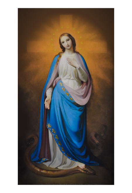Virgin Victorious by Melchior Paul von Deschwanden Print