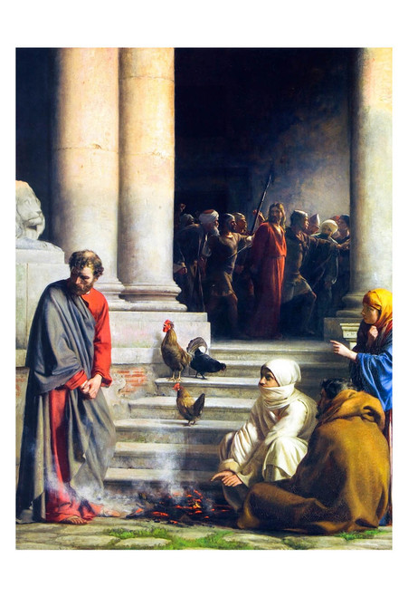 The Denial of Peter by Carl Bloch Print