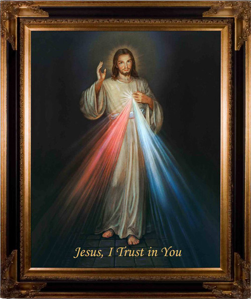 Divine Mercy - Dark Museum Framed Canvas