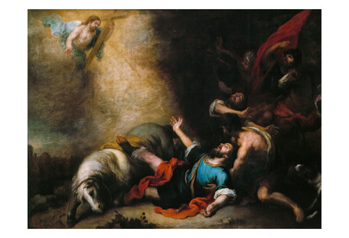 The Conversion of Saint Paul by Murillo Print