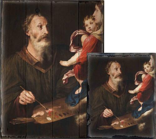 Virgin Mary Rustic Wood Plaque Art