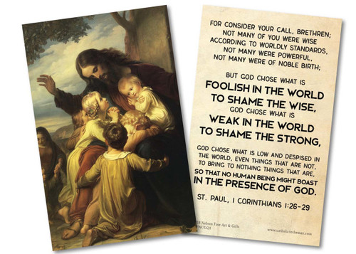 """For Consider Your Call"" St. Paul Quote Holy Card"