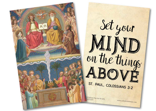 """""""Set Your Mind"""" St. Paul Quote Holy Card"""