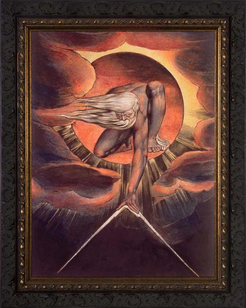 Ancient of Days by William Blake - Ornate Dark Framed Art