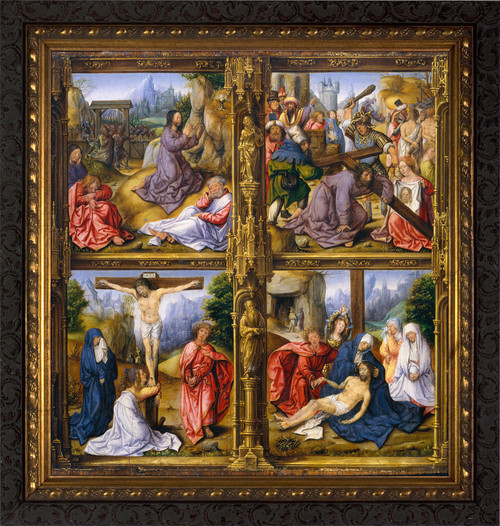 Four Scenes from the Passion - Ornate Dark Framed Art