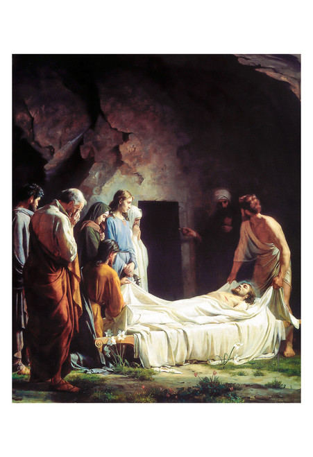 The Burial of Christ by Carl Bloch Print