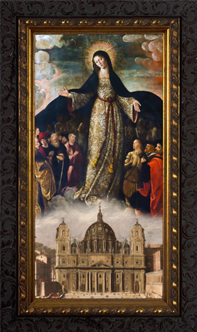 Mary Mother of the Church - Ornate Dark Framed Art
