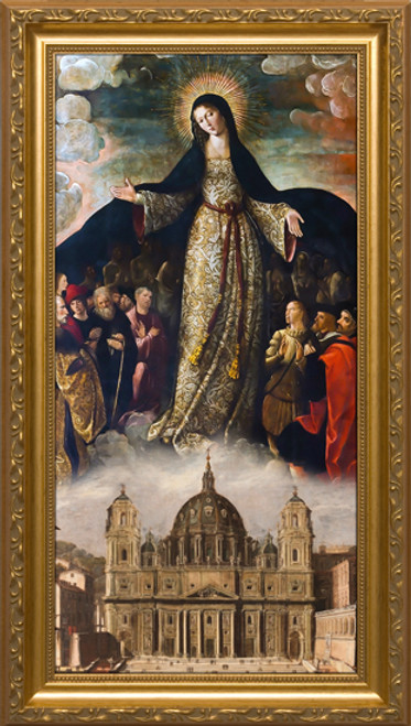Mary Mother of the Church - Standard Gold Framed Art