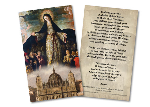 Mary Mother of the Church Holy Card