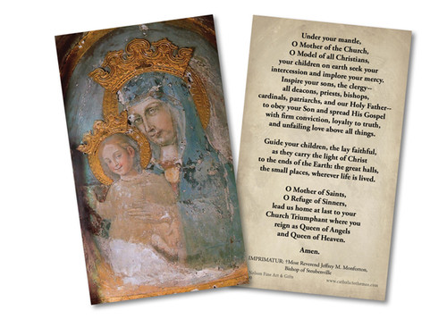 Mater Ecclesiae - Original Unrestored Holy Card