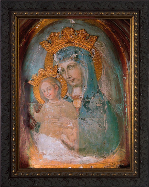Mater Ecclesiae - Original Unrestored - Ornate Dark Framed Art