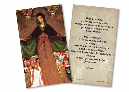 Spanish Mother of Mercy Holy Card