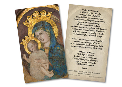 Mater Ecclesiae - Our Lady of the Column Restored Holy Card