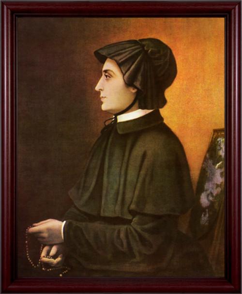 St. Elizabeth Ann Seton - Cherry Framed Art