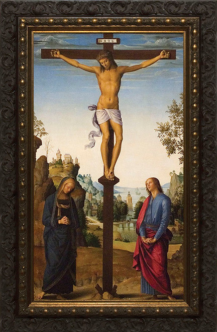 Crucifixion by Perugino Framed Canvas