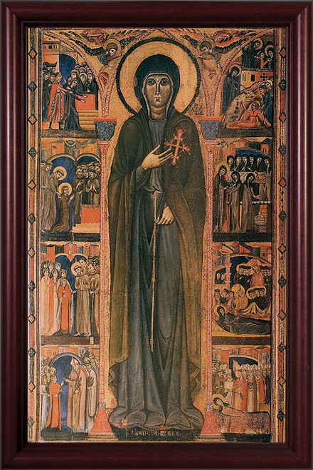 St. Clare by Dossal Framed Art Canvas