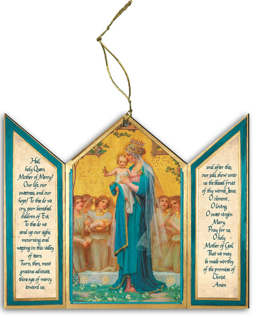Madonna and Child by Enric M. VidaL Triptych Wood Ornament