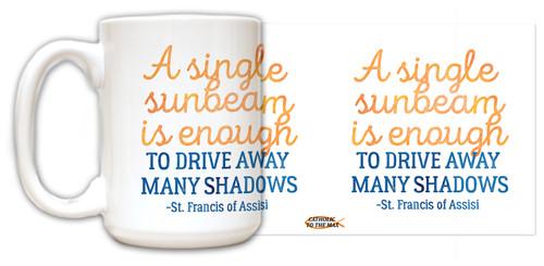 """A Single Sunbeam"" Quote Mug"