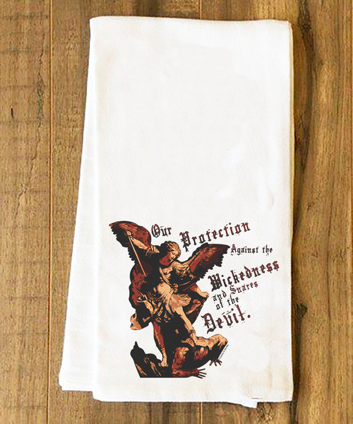 St. Michael the Archangel Tea Towel