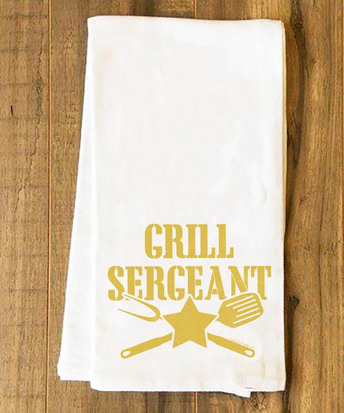 Grill Sergeant Tea Towel