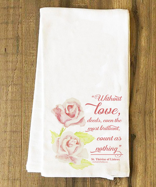St. Therese of Lisieux Tea Towel