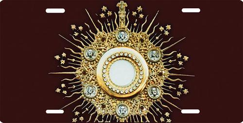 Eucharist in Monstrance License Plate