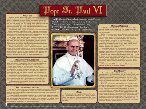 Pope Saint Paul VI Explained Poster