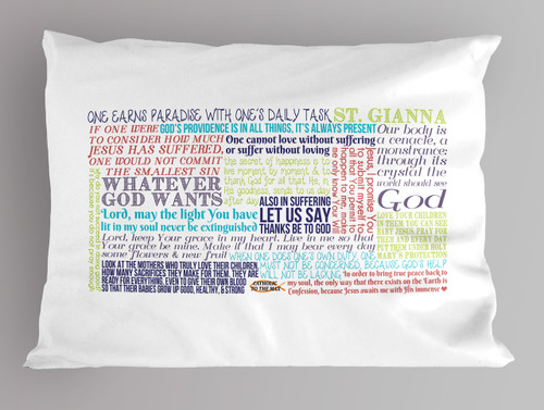 St. Gianna Quote Pillowcase