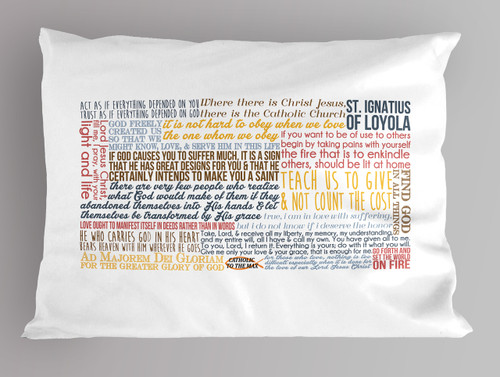 St. Ignatius quote pillowcase