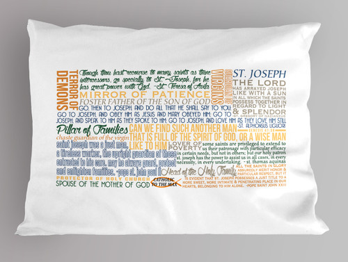 St. Joseph Quote Pillowcase